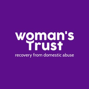 Woman's Trust Logo Recovery From Domestic Abuse Logo Purple
