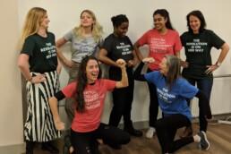 Grab Woman's Trust charity she-shirt - raising funds