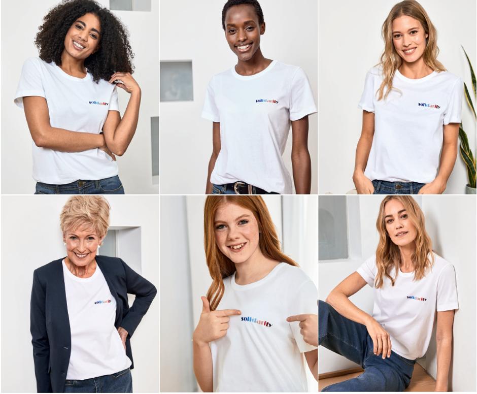 Baukjen Lilou Solidarity Tee Womans Trust and Baukjen collaborate on Charity T Shirt For International Women's Day