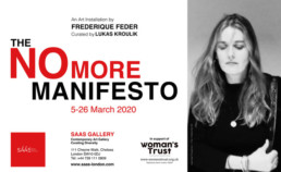 poster promoting the No More Manfiesto event at SAAS Gallery
